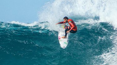 surfer in het water