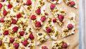 veel eiwit desserts frozen yogurt bark
