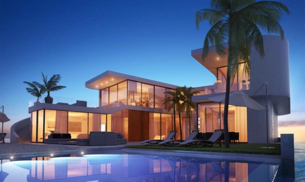 zelfvoorzienende drijvende villa's