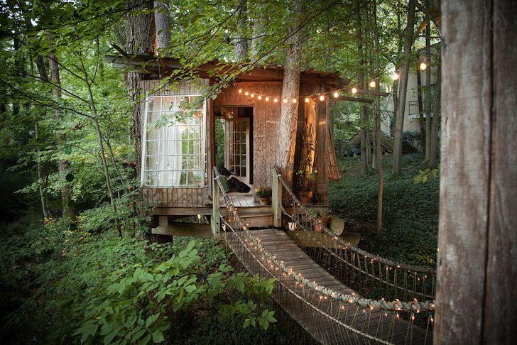 airbnb, boomhutten, campers, hammocks, natuur