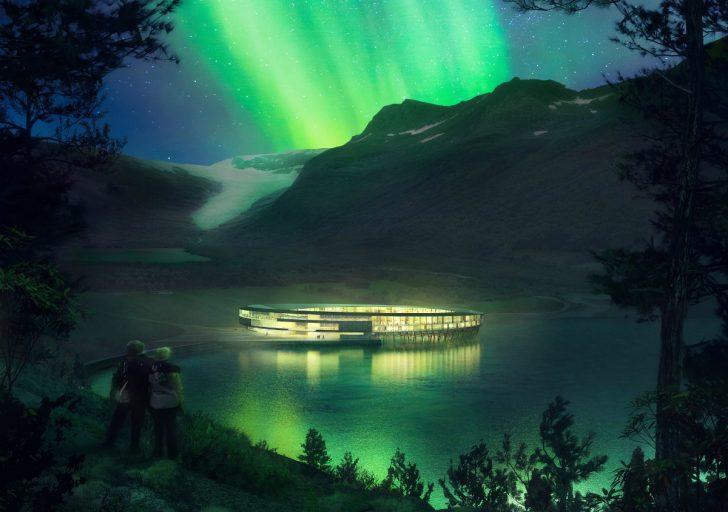 svart, hotel, noorwegen