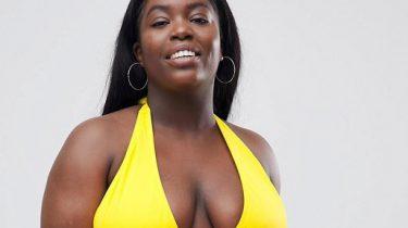 ASOS bikini body model