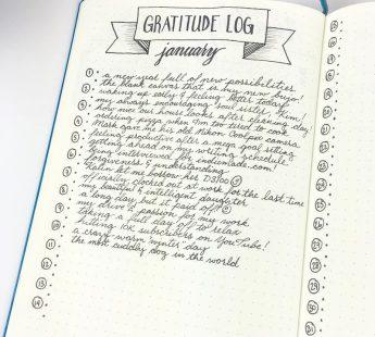 Bedrock - Gratitude Log