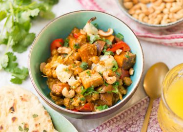 Foto van vegetarische tikka masala