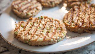 vegan seafood burger