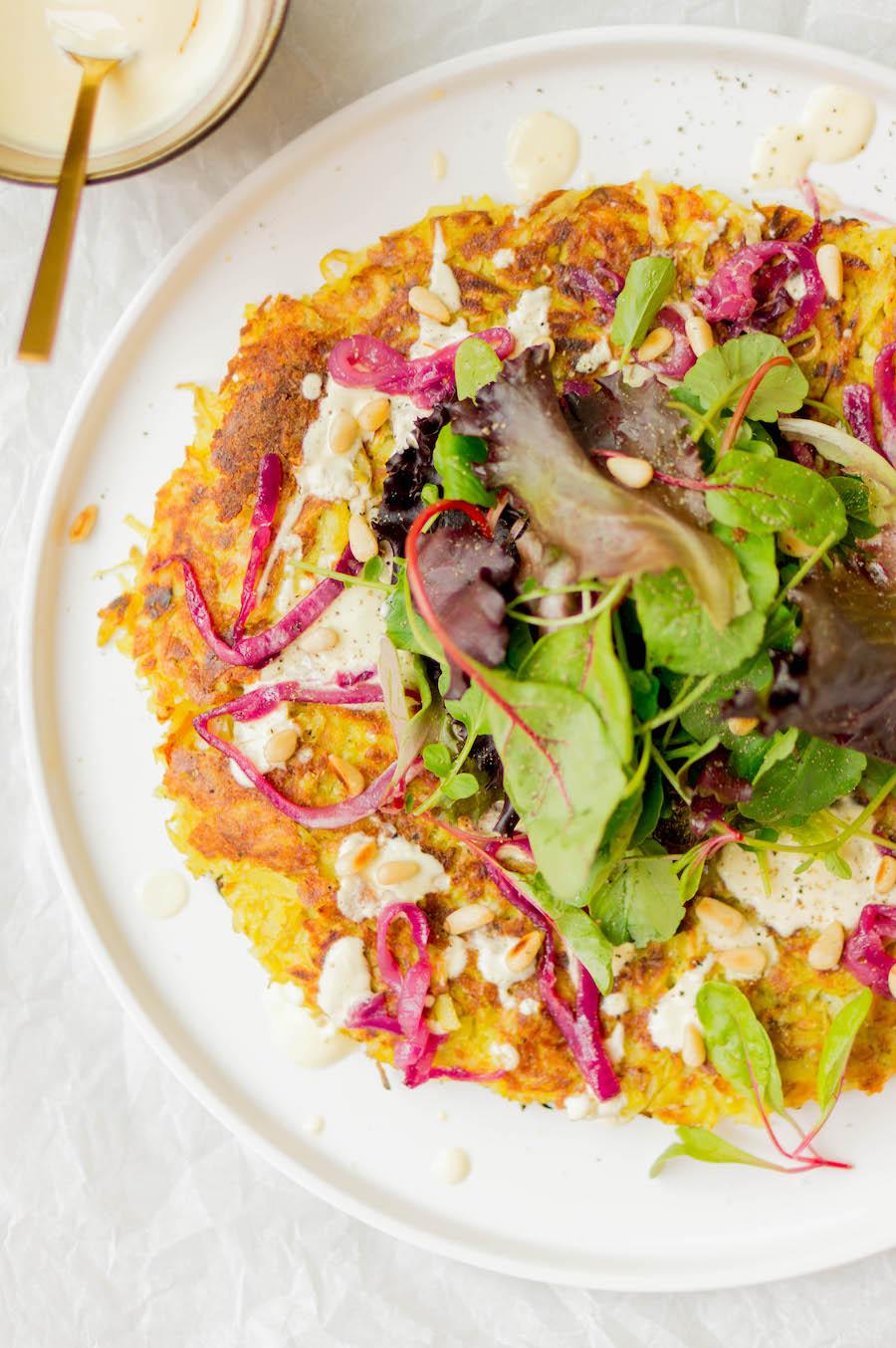vegetarische rösti met saffraanyoghurt recept 3
