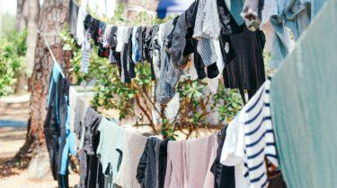 waslijn met kleding