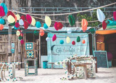 restaurant in Bali op het strand