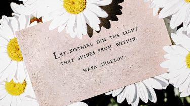 bloemetjes met een briefje