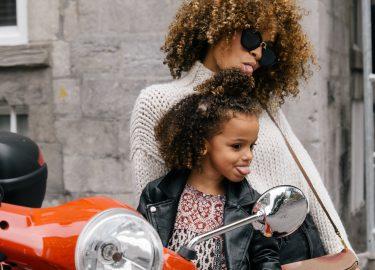 moeder met dochter