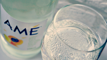 Fles en glas ame