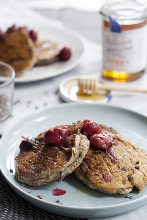 Vegan glutenvrije pancakes
