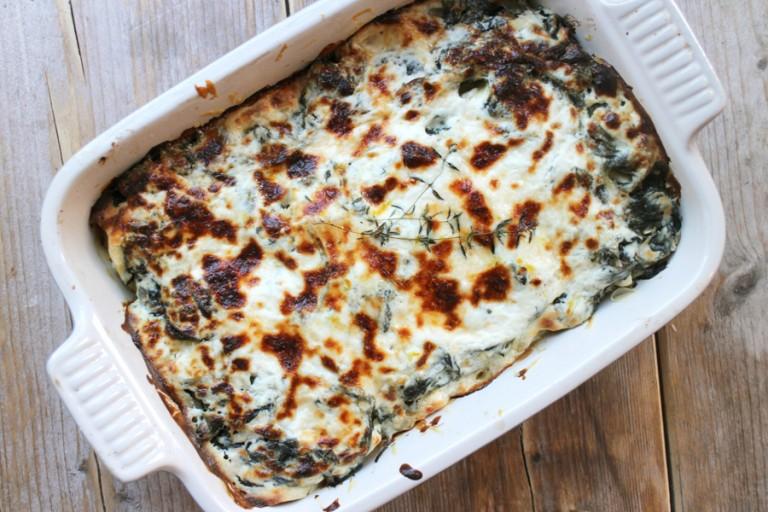 Afbeelding vegetarisch hoofdgerecht cannelloni met ricotta