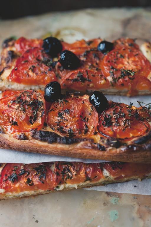 Afbeelding vegetarisch hoofdgerecht tomaten-amandeltaart