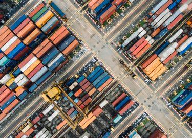 vrachtschepen en containers