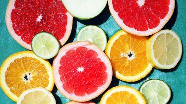 citrusvruchten open gesneden