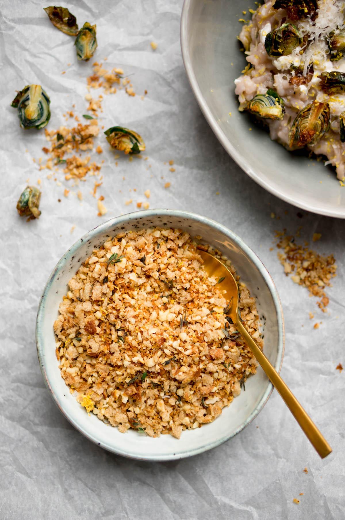 Afbeelding van risotto met spruitjes 2