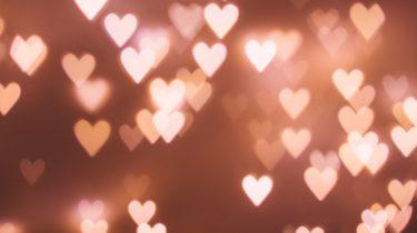 neon lights hearts