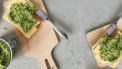 boterham met kaas en pesto