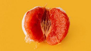 Afbeelding van grapefruit als vagina