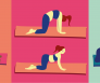 illustratie yoga poses