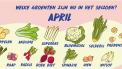 Seizoensgroenten april