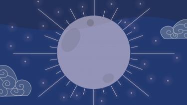 illustratie van de maan