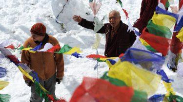 twee mannen in de sneeuw