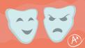 twee gezichten illustratie