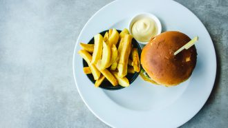 vegan mayonaise en friet