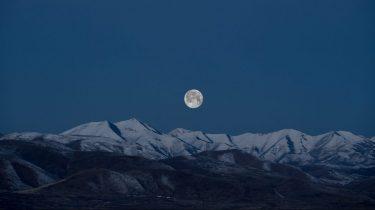 volle maan bergen