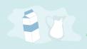 melkflessen illustratie