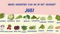 Seizoensgroenten juli