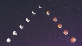 maancyclus in het universum