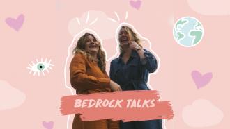 illustratie Bedrock Talks Rosa en Lisanne