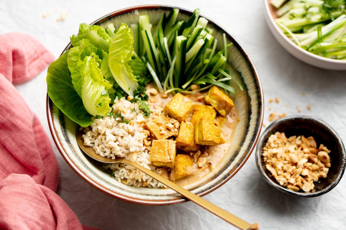 Afbeelding Thaise saté-bowl vegan keto-recepten