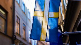 de vlag van zweden