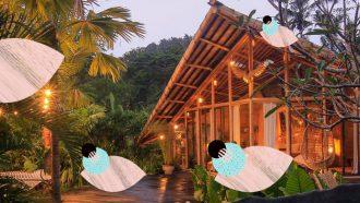 Bamboo hut Bali