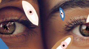 twee ogen naast elkaar