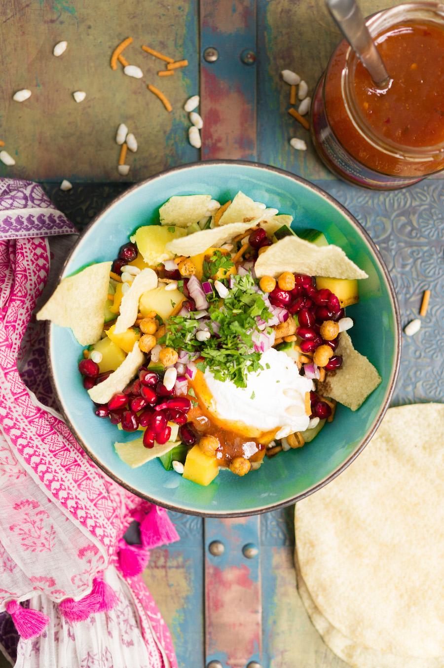 Salade met kikkererwten als voorbeeld van salades met eiwitten