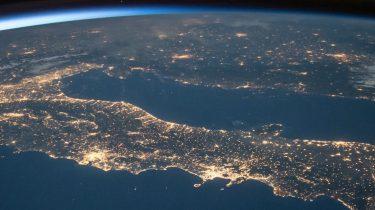 foto vanuit de ruimte van de aarde