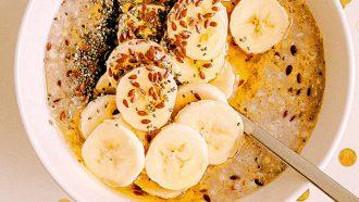 ontbijt met bananen voor goed humeur