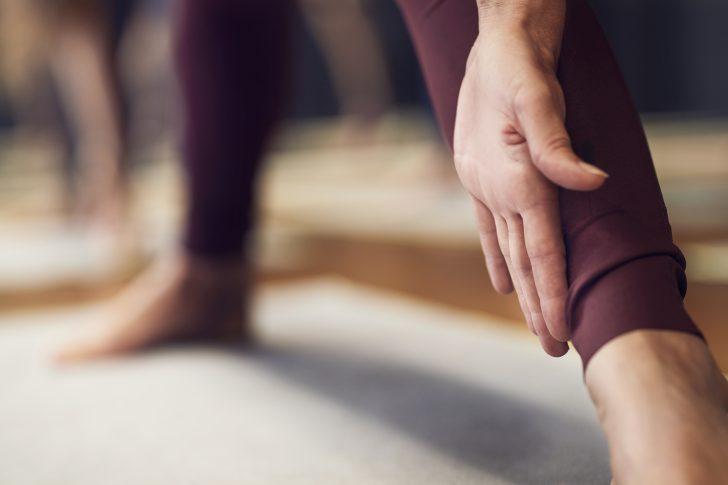 lichaam in yoga houding