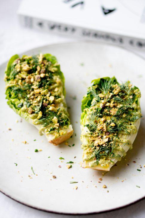 vega salade met pistachedressing